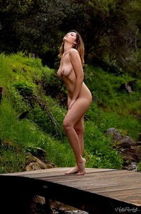 Ali Rose Showing Tits In Forest