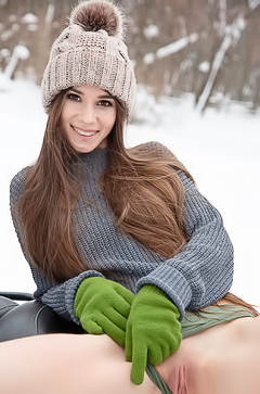 'Sexy On A Snowmobile' with Leona Mia via Watch4Beauty