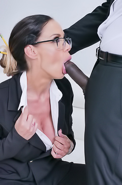 Secretary Mckenzie Lee Gets Black Dick In Tight Ass Hole