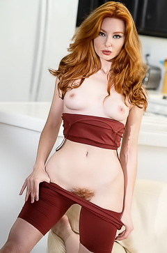 Perfect Hairy Redhead Lacy Lennon